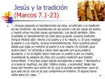 jes s y la tradici n marcos 7 1 2312