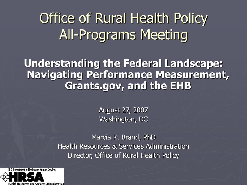 office of rural health policy all programs meeting l.