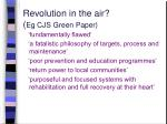 revolution in the air eg cjs green paper
