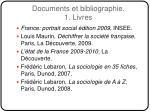 documents et bibliographie 1 livres