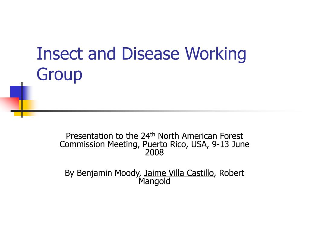insect and disease working group l.
