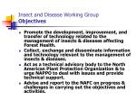 insect and disease working group objectives