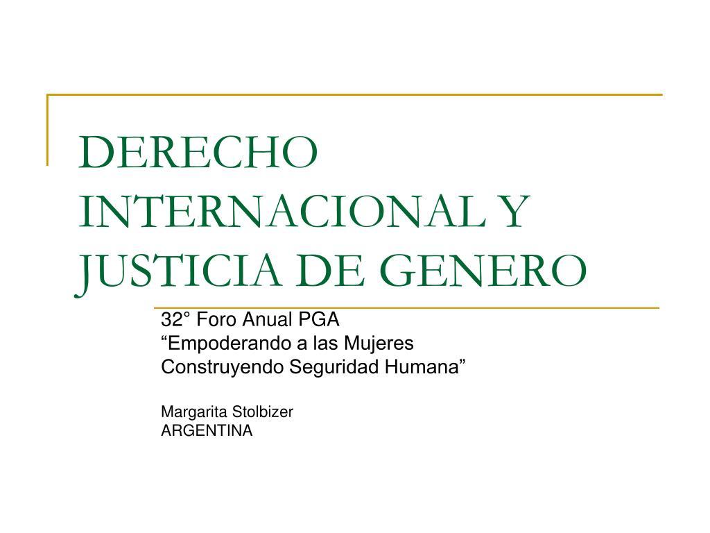 derecho internacional y justicia de genero l.