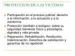 proteccion de las victimas