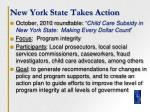 new york state takes action
