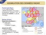 assimilation des donn es radar