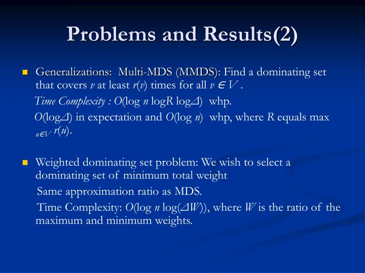 Problems and Results(2)