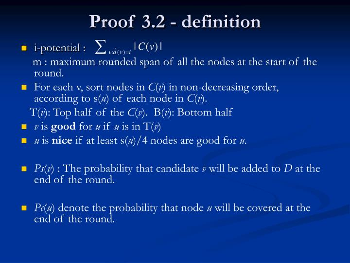 Proof 3.2 - definition