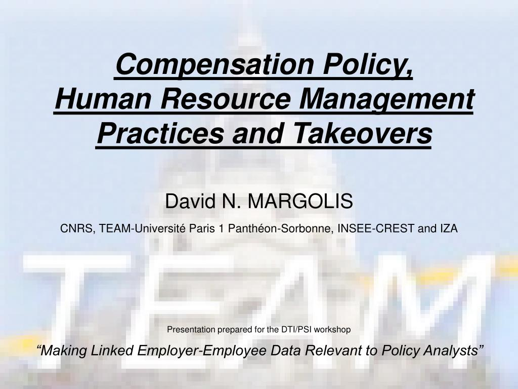 compensation policy human resource management practices and takeovers l.