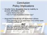 conclusion policy implications