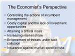 the economist s perspective