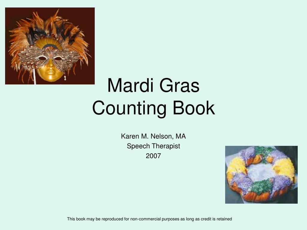 mardi gras counting book l.