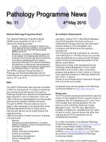 pathology programme news no 11 4 th may 2010