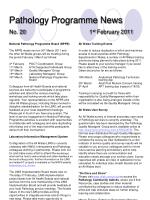 pathology programme news no 20 1 st february 2011
