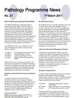 pathology programme news no 21 1 st march 2011