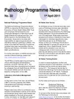 pathology programme news no 22 1 st april 2011