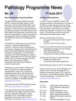 pathology programme news no 24 1 st june 2011