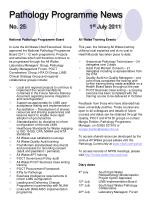 pathology programme news no 25 1 st july 2011