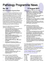 pathology programme news no 26 1 st august 2011