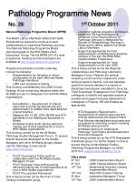 pathology programme news no 28 1 st october 2011