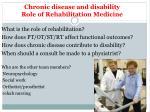 chronic disease and disability role of rehabilitation medicine