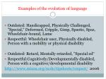 examples of the evolution of language
