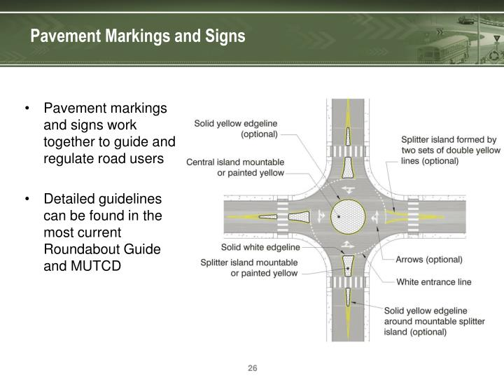 Pavement Markings and Signs