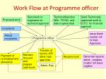 work flow at programme officer