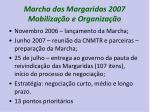 marcha das margaridas 2007 mobiliza o e organiza o