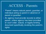 access parents