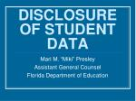 disclosure of student data