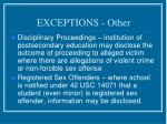 exceptions other24