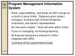 program management information system