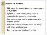 vendor software