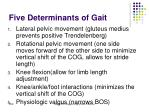 five determinants of gait