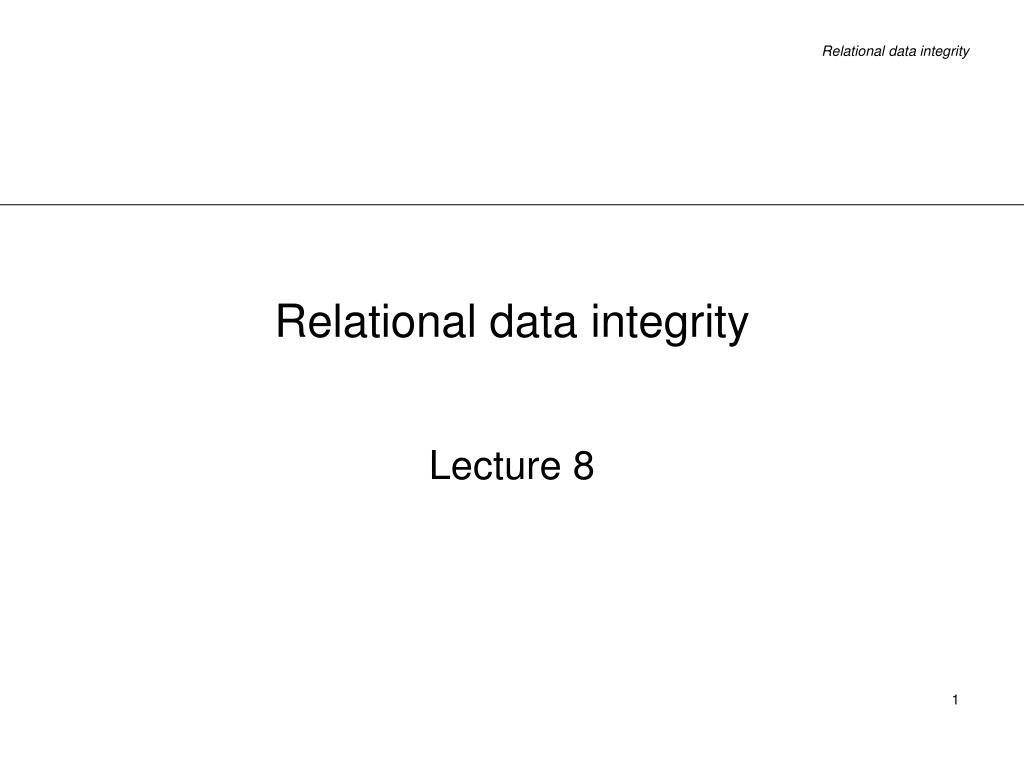 relational data integrity l.
