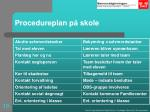 procedureplan p skole