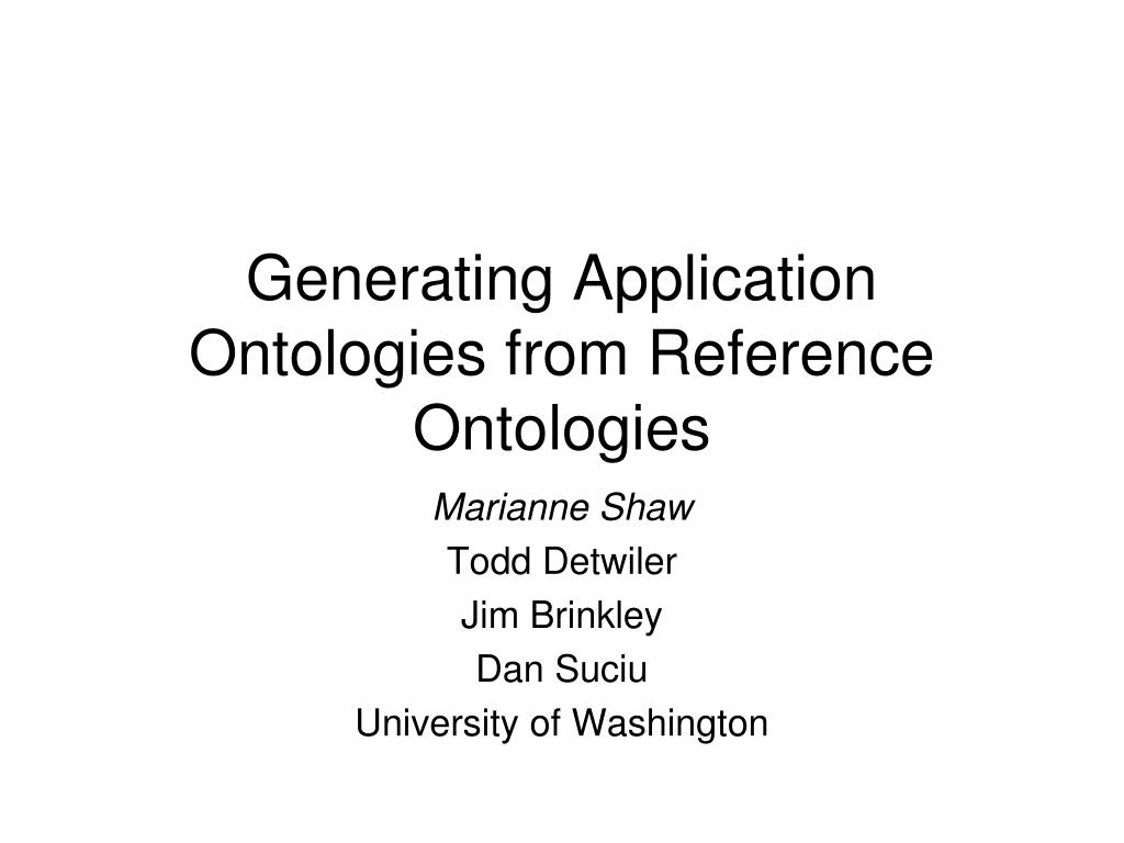 generating application ontologies from reference ontologies l.