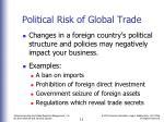political risk of global trade