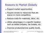 reasons to market globally