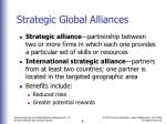 strategic global alliances
