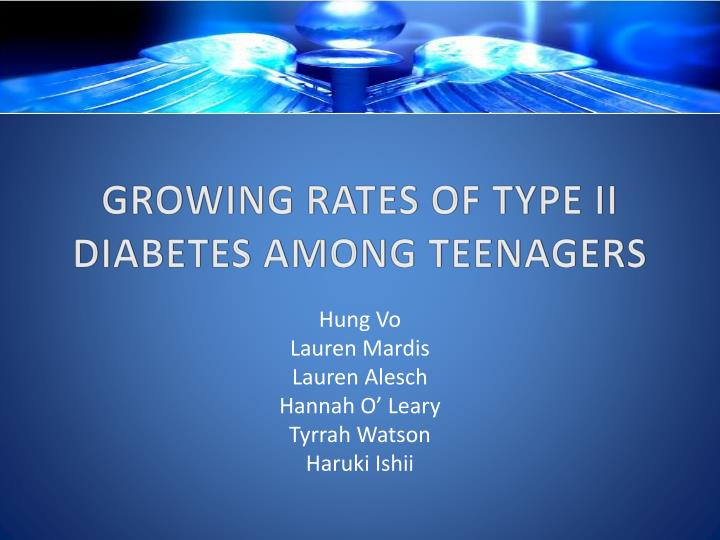 growing rates of type ii diabetes among teenagers n.