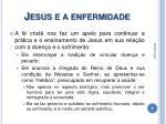 jesus e a enfermidade
