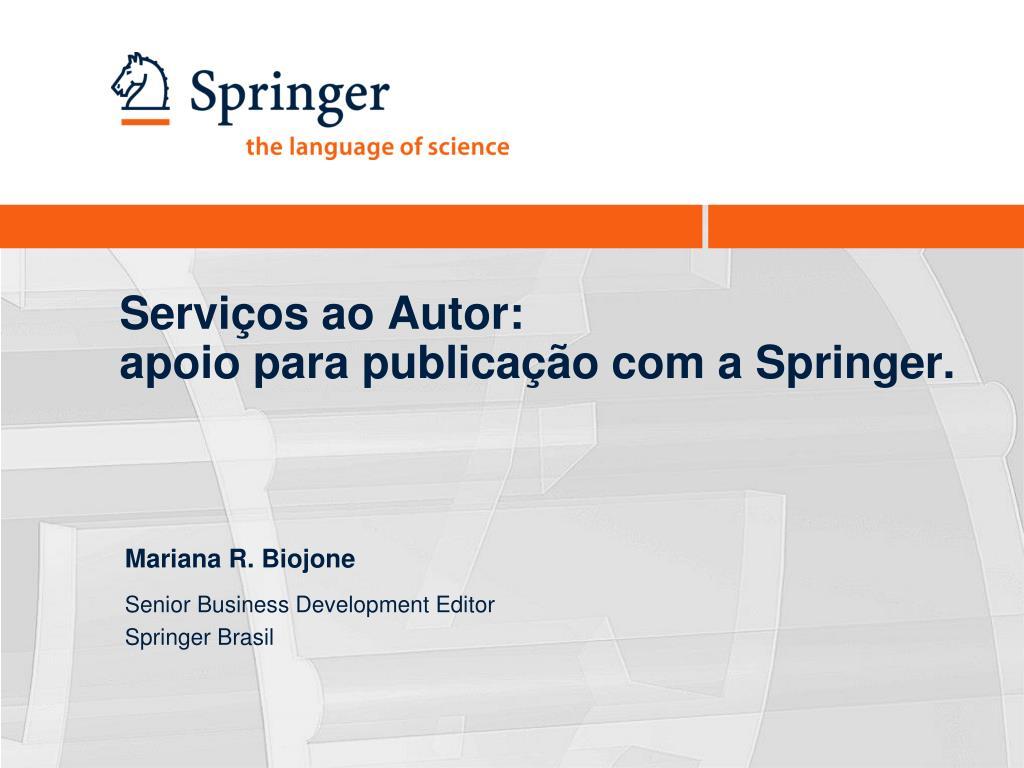 servi os ao autor apoio para publica o com a springer l.