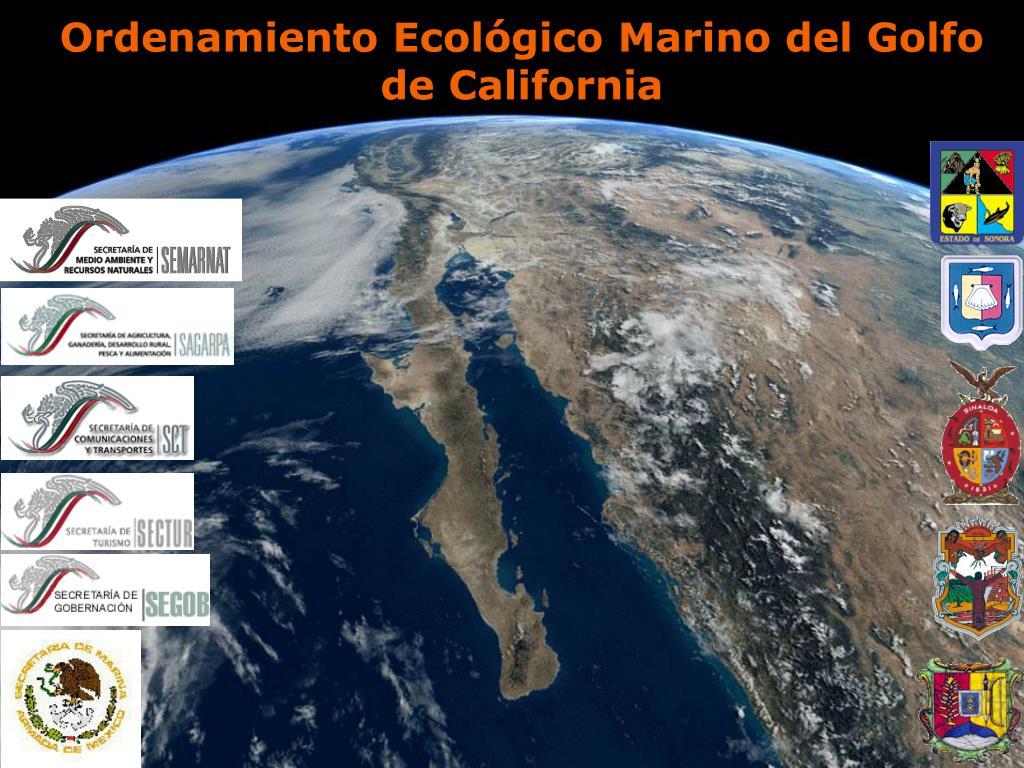ordenamiento ecol gico marino del golfo de california l.