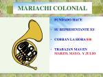 mariachi colonial