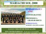 mariachi sol 2000