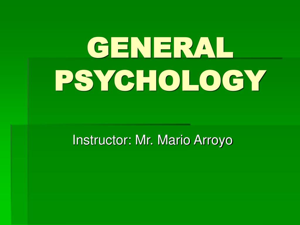 general psychology l.