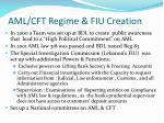 aml cft regime fiu creation