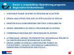 koraci u unaprje enju operativnog programa regionalna konkurentnost